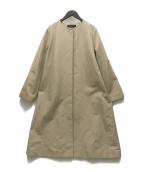 closet story U.A(クローゼット ストーリー ユナイテッド アローズ)の古着「グログランベルテッドノーカラーコート」|ベージュ
