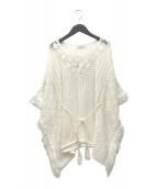 ETRE TOKYO(エトレトウキョウ)の古着「ローゲージフリンジニット」|ホワイト