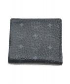 ()の古着「2つ折り財布」|ブラック×ブルー