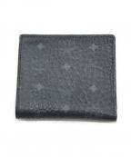 MCM(エムシーエム)の古着「2つ折り財布」|ブラック×ブルー