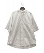 AURALEE(オーラリー)の古着「ウォッシュドフィンクスツイルビッグシャツ」 ホワイト