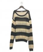BED J.W. FORD(ベッドフォード)の古着「20SS Mesh Sweater」|ベージュ×ブラック