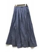 U by SPICK&SPAN(ユー バイ スピック&スパン)の古着「20SS ギャザーロングスカート」|ブルー