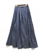U by SPICK&SPAN(ユー バイ スピック&スパン)の古着「20SS ギャザーロングスカート」 ブルー