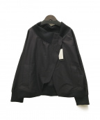 Gabardine K.T(ギャバシンケーティー)の古着「アシンメトリーショートブルゾン」 ブラック