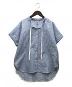 ARTISAN(アルチザン)の古着「21SS ストライプジャカードシャツ」 ブルー