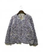 Coohem(コーヘン)の古着「ツイードジャケット」|パープル