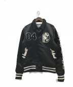 BILLIONAIRE BOYS CLUB()の古着「クラシックサテンバーシティージャケット」 ブラック
