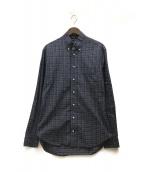 ()の古着「ボタンダウンチェックシャツ」 ネイビー