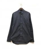 GITMAN BROS(ギットマンブラザーズ)の古着「ボタンダウンチェックシャツ」 ネイビー