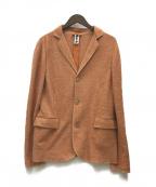 Bark(バーク)の古着「リネン混テーラードジャケット」|オレンジ