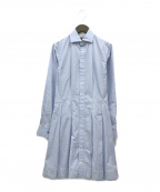 POLO RALPH LAUREN()の古着「フレアシャツワンピース」|ブルー