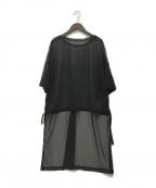 comme ca(コムサ)の古着「21SS シフォンジャージーBIGTシャツ」 ブラック