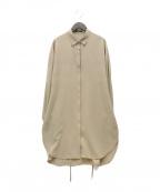comme ca(コムサ)の古着「21SS ドライロリアセロングシャツ」 ブラウン