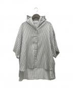 BASILE 28(バジーレ28)の古着「21SS 半袖プルオーバーシャツ」 グレー