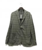 BOGLIOLI()の古着「チェック3Bジャケット」|グレー