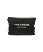 Saint Laurent Paris(サンローランパリ)の古着「クラッチバッグ」|ブラック