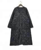 HYKE(ハイク)の古着「キルティングライナーコート」|ブラック