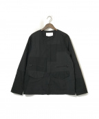 WHITE MOUNTAINEERING(ホワイトマウンテ二アニング)の古着「ノーカラージャケット」|ブラック