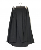 theory(セオリー)の古着「リネン混スカート」|ブラック