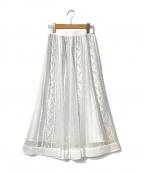 Apuweiser-riche(アプワイザーリッシェ)の古着「バイカラーレーススカート」 ホワイト