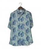agnes b homme(アニエスベーオム)の古着「リーフプリントシャツ」 ブルー