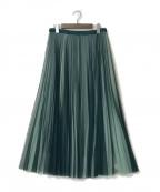 comme ca(コムサ)の古着「20SS コムサ/リバーシブルソフトチュールプリーツスカート」 グリーン
