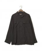 PENDLETON(ペンドルトン)の古着「オープンカラーシャツ」|ブラウン