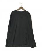 GROUND Y(グラウンドワイ)の古着「コットン天竺ヒモビッグ長袖Tシャツ」 ブラック