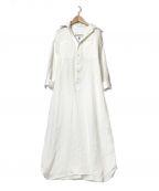 BLUEBIRD BOULEVARD(ブルーバードブルバード)の古着「ソフトシュリンクガーゼシャツドレス」 ホワイト