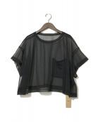 ()の古着「21SS シフォンジャージー ポケット Tシャツ」|ブラック