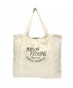 maison kitsune(メゾンキツネ)の古着「パレロワイヤルキャンバストートバッグ」|ベージュ