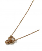4℃(ヨンドシー)の古着「ダブルループピンクゴールドネックレス」|ピンクゴールド