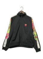 ()の古着「カオス刺繍トラックジャケット」|ブラック