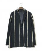HOMME PLISSE ISSEY MIYAKE(オムプリッセイッセイミヤケ)の古着「プリーツジャケット」 ネイビー×ベージュ