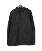 BURBERRY LONDON ENGLAND(バーバリー ロンドン イングランド)の古着「ノヴァチェックライナー付フーデッドコート」 ブラック