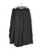 YohjiYamamoto pour homme(ヨウジヤマモトプールオム)の古着「裾ボタンウールギャバワイドパンツ」|ブラック