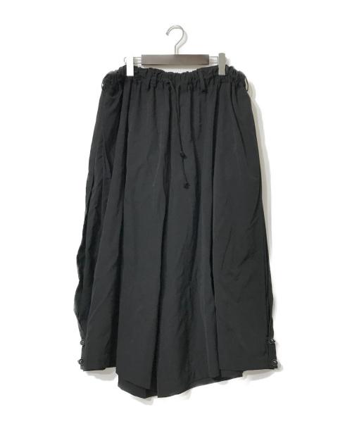 YohjiYamamoto pour homme(ヨウジヤマモトプールオム)YohjiYamamoto pour homme (ヨウジヤマモトプールオム) 裾ボタンウールギャバワイドパンツ ブラック サイズ:3の古着・服飾アイテム