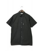 ()の古着「ストレッチタイプライター ショートスリーブ ボックス シャツ」|ブラック