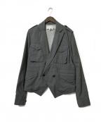 GANRYU(ガンリュウ)の古着「ウールドロージャケット」 グレー