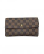 LOUIS VUITTON()の古着「ポルトフォイユ・サラ 長財布」|ブラウン