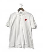 PLAY COMME des GARCONS(プレイ コムデギャルソン)の古着「ワンポイントポロシャツ」|ホワイト