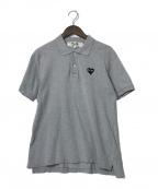PLAY COMME des GARCONS(プレイ コムデギャルソン)の古着「ワンポイントポロシャツ」|グレー