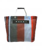MARNI(マルニ)の古着「フラワーカフェストライプトートバッグ」|マルチカラー