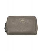 ()の古着「ラウンドファスナー財布」|ブラウン