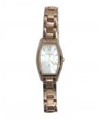 CITIZEN(シチズン)の古着「腕時計」 ホワイト × ゴールド