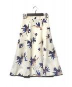()の古着「花柄プリントマーメイドロングスカート」 ホワイト