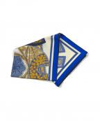 HERMES(エルメス)の古着「カレ90 タピ ドゥ セル」|ブルー