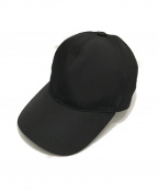 PRADA(プラダ)の古着「プレートロゴナイロンベースボールキャップ」|ブラック