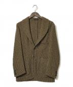 THE GIGI(ザ・ジジ)の古着「ツイードテーラードジャケット」|ブラウン